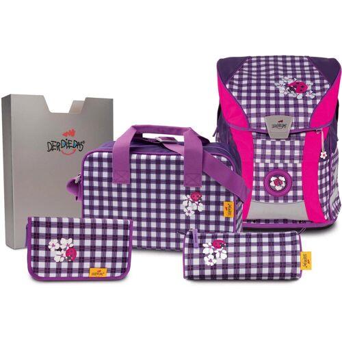 DerDieDas® Schulrucksack »ErgoFlex Vario - Violetta« (Set)