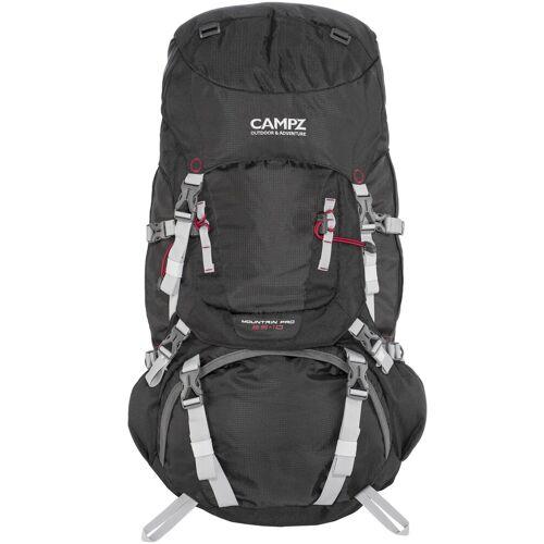 CAMPZ Wanderrucksack »Mountain Pro 55+10l Rucksack«, schwarz