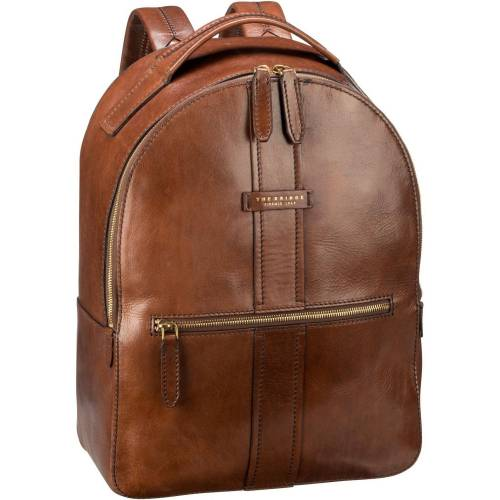 THE BRIDGE Rucksack »Trebbio Rucksack 5209«, Marrone/Oro