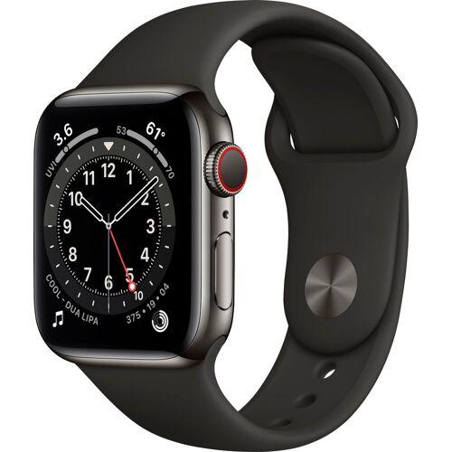 Apple Watch Series 6 Smartwatch (Watch OS), inkl. Ladestation (magnetisches Ladekabel), schwarz   graphite black