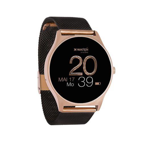 X-Watch JOLI XW PRO Smartwatch, 54030 Diamond Black, Damen Smartwatch mit Puls und Blutdruckmessung, schwarz   Schwarz