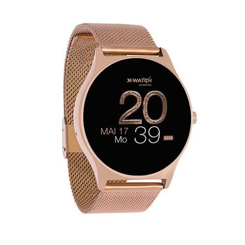 X-Watch JOLI XW PRO Smartwatch, 54029 Rose Gold, Damen Smartwatch mit Puls und Blutdruckmessung, rosegold   Rosegold