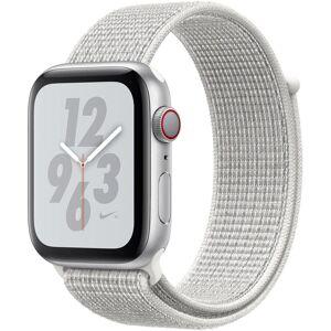 Apple Nike+ Series 4 GPS + Cellular, Aluminiumgehäuse mit Nike Sportarmband Loop 44mm Watch (Watch OS 5), white   silberfarben-Summit White