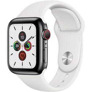 Apple Series 5 GPS + Cellular, Edelstahl mit Sportarmband 40mm Watch (Watch OS 6)