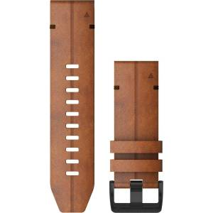 Garmin Ersatz-/Wechselarmband »Ersatzarmband QuickFit 26 mm Leder«, Dunkelgrau-Braun