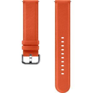 Samsung Ersatz-/Wechselarmband »Lederarmband für Galaxy Watch Active2«, Orange