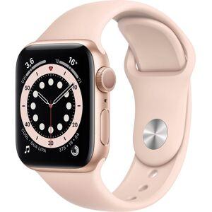Apple Series 6 GPS, Aluminiumgehäuse mit Sportarmband 40mm Watch (Watch OS), inkl. Ladestation (magnetisches Ladekabel), Sandrosa   Gold/Sandrosa