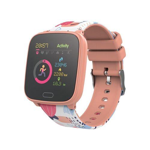 Forever GO JW-100 Smartwatch Armbanduhr Kinder Schritt, Zeit, Datum, Musik-Management, Alarm, Smartwatch, Orange