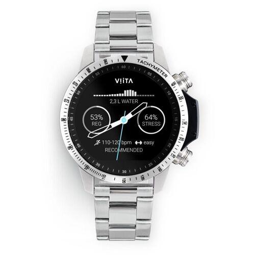 Viita Smartwatch »Active HRV Tachymeter«, Silber