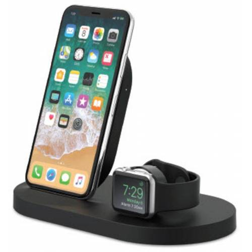 Belkin Lader »7,5W Wireless Charging Dock iPhone und Apple Watch«, Schwarz