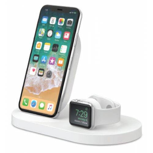 Belkin Lader »7,5W Wireless Charging Dock iPhone und Apple Watch«, Weiß