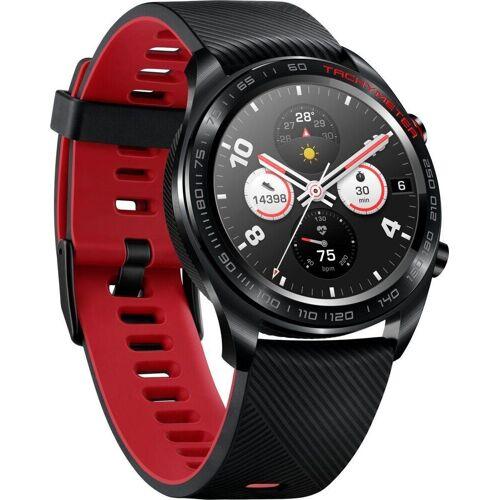 Honor Watch Magic Smartwatch (3,05 cm/1,2 Zoll), schwarz-rot