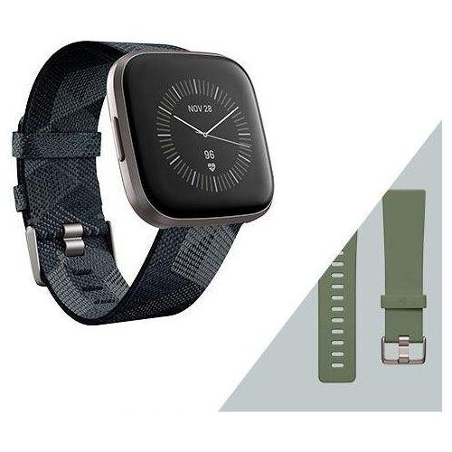 fitbit Versa 2 - Sonderedition (inkl. Ersatzarmband) Smartwatch, grau