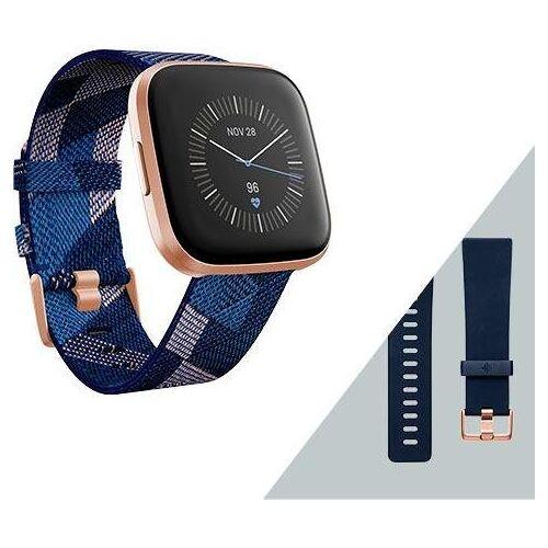 fitbit Versa 2 - Sonderedition (inkl. Ersatzarmband) Smartwatch, navy-pink