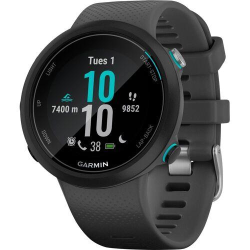 Garmin Swim2 mit Silikon-Armband 20 mm Smartwatch (2,63 cm/1,04 Zoll), grau