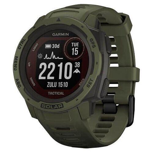 Garmin Instinct Solar Tactical Edition Smartwatch (2,3 cm/0,9 Zoll), grün   Tactical Moss