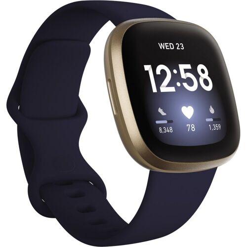 fitbit Versa 3 Smartwatch midnight/soft gold aluminum Smartwatch