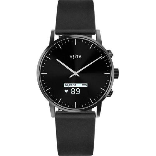 Viita Hybrid HRV Classic Smartwatch, schwarz   schwarz