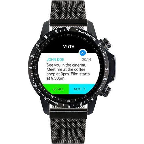 Viita Active HRV Adventure Smartwatch (4,6 cm/1,81 Zoll), schwarz   schwarz