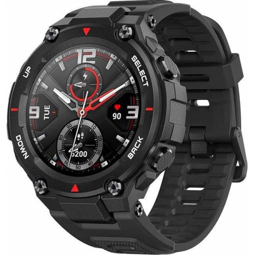 Amazfit T-Rex Smartwatch (3,3 cm/1,3 Zoll), Rock Black