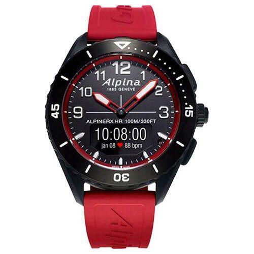 Alpina Watches ALPINERX HR Smartwatch (1,8 Zoll), Rot   rot