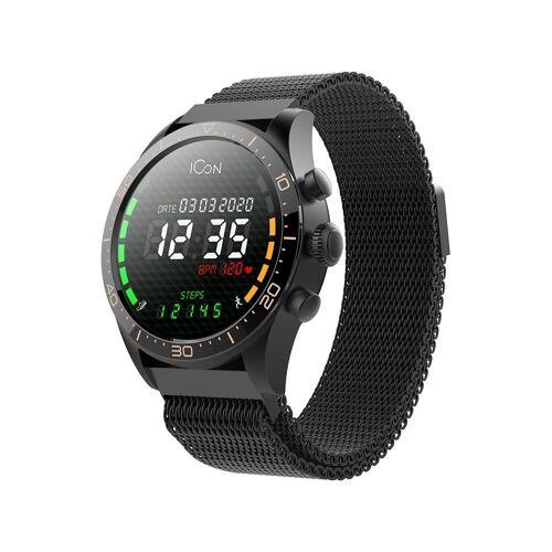 Forever AMOLED Elegant Tracker Wasserdicht IP67 Armband Uhr Bluetooth Smart Watch Schrittzähler Pulsmesser, Schwarz Smartwatch
