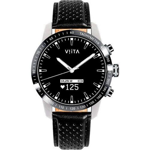 Viita Hybrid HRV Tachymeter Smartwatch, schwarz   schwarz