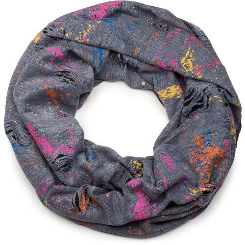 styleBREAKER Loop »Loop mit Farbklecksen im Used Look« Loop mit Farbklecksen im Used Look, Grau-Blau