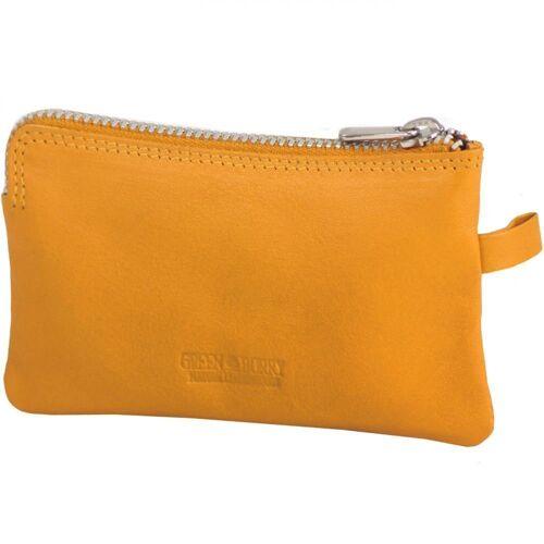 Greenburry Spongy Schlüsseletui Leder 11,5 cm, yellow