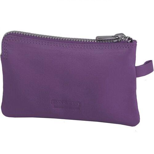 Greenburry Spongy Schlüsseletui Leder 11,5 cm, purple