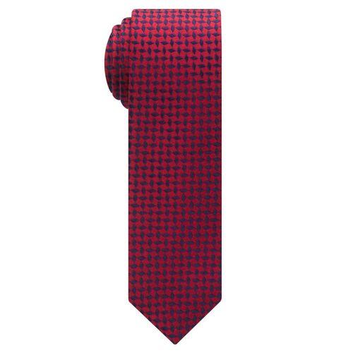 Eterna Krawatte »schmal«, rot/blau