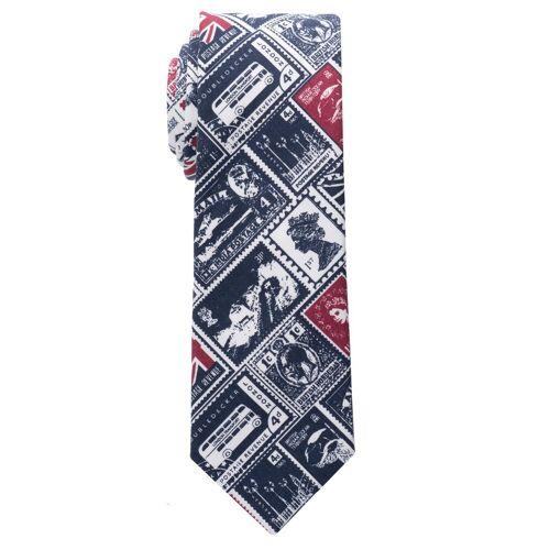 Eterna Krawatte »schmal«, blau/rot