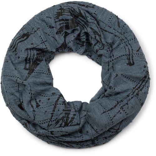 styleBREAKER Loop »Loop mit Farbklecks Muster« Loop mit Farbklecks Muster, Jeansblau