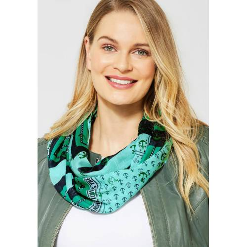 Cecil Loop mit Ankermotiv, lucky clover green