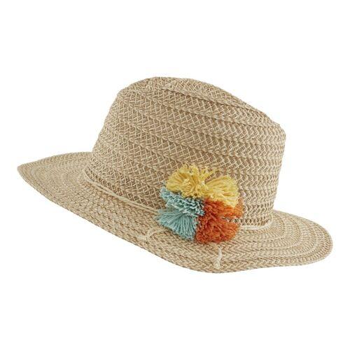 heine Hut mit Verzierung, natur