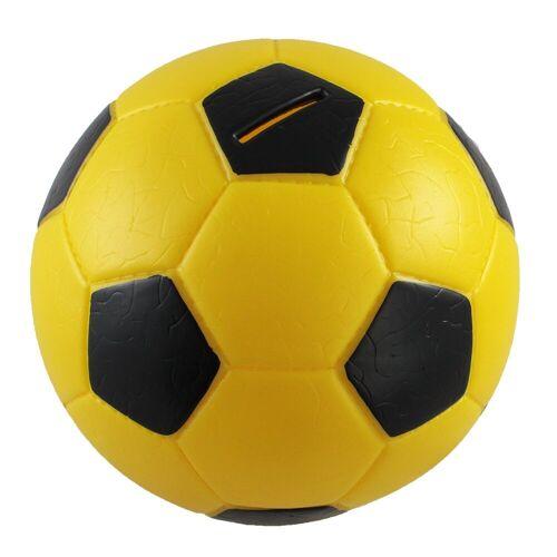 HMF Spardose »4790«, Fußball in Lederoptik, 15 cm Durchmesser, gelb