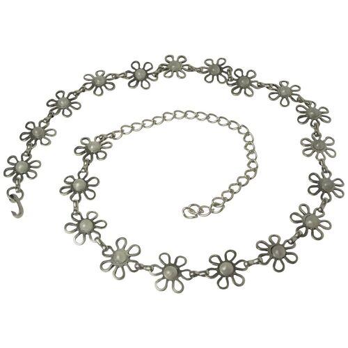 FRONHOFER Kettengürtel »18376« silberner Kettengürtel mit Perlen ca. 3 cm breit, 110 cm lang