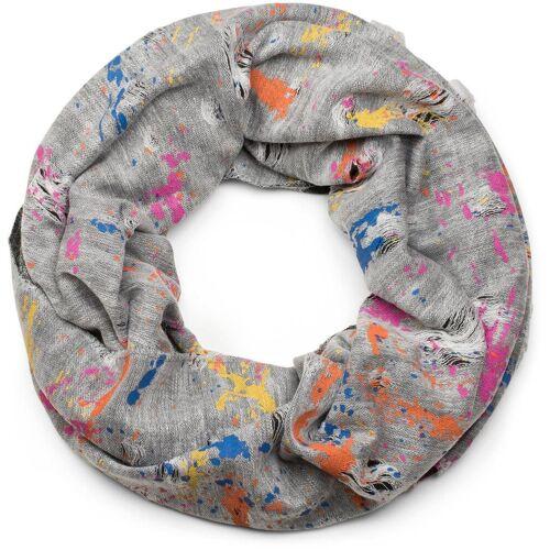 styleBREAKER Loop »Loop mit Farbklecksen im Used Look« Loop mit Farbklecksen im Used Look, Weiß