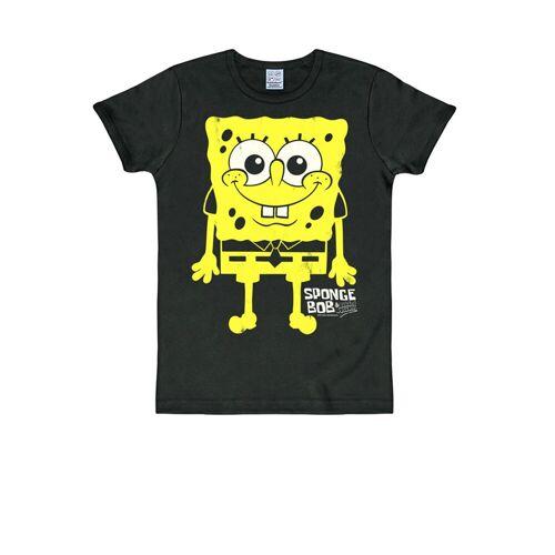 LOGOSHIRT T-Shirt mit Spongebob-Print »Spongebob«, schwarz
