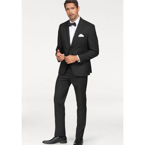 Bruno Banani Anzug (Set, 4-tlg., mit Krawatte und Einstecktuch) inklusive Fliege und Einstecktuch, schwarz
