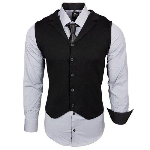 Rusty Neal Hemdenset mit Weste und Krawatte, Grau