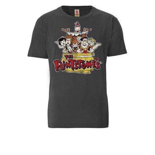 LOGOSHIRT T-Shirt mit Familie Feuerstein-Print »Familie Feuerstein«, dunkelgrau