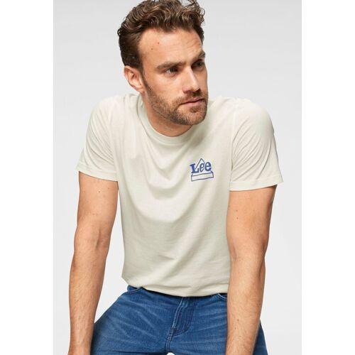 Lee® T-Shirt mit Markenlogo, ecru