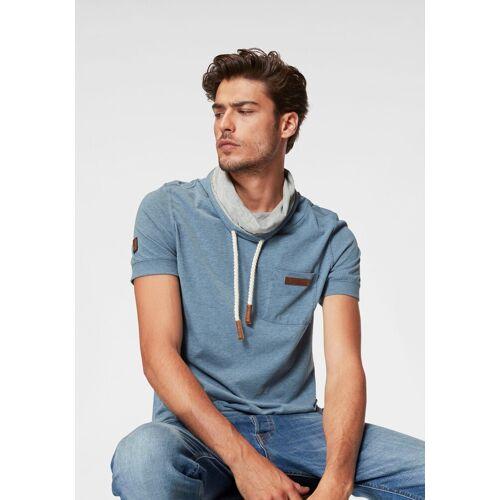 naketano T-Shirt »Fat Tony«, pool blue mel.