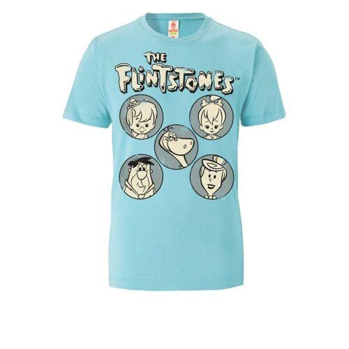LOGOSHIRT T-Shirt mit Familie Feuerstein-Print »Familie Feuerstein«, türkis