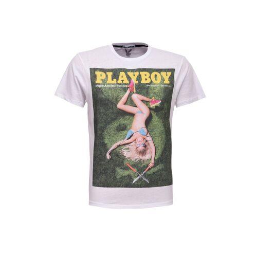 PLAYBOY T-Shirt mit Print, white