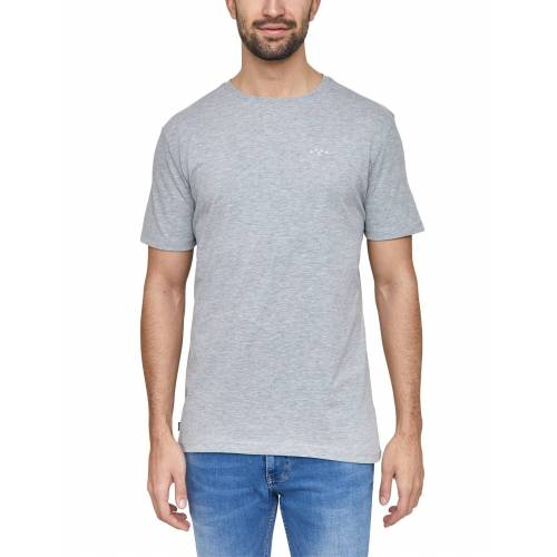 MAZINE T-Shirt aus veganen Materialien »Burwood«, grey mel