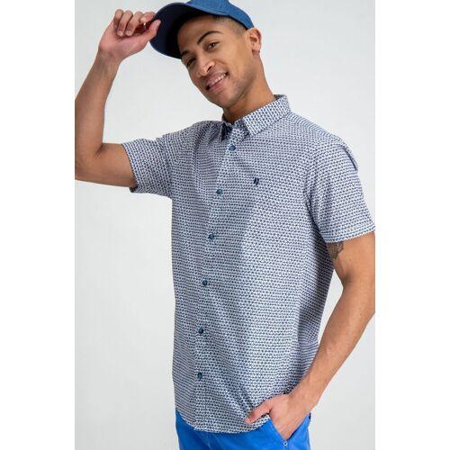 Garcia Hemd mit ausgefallenem Muster, weiß