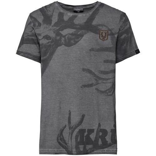 KRÜGER BUAM T-Shirt Hirschgeweih, Grau