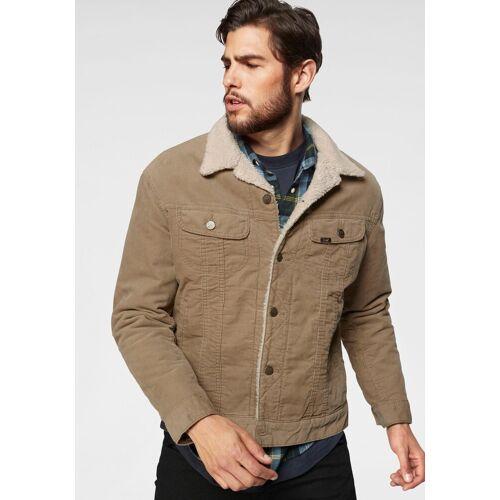 Lee® Jeansjacke in lässiger Cord-Qualität, camelfarben